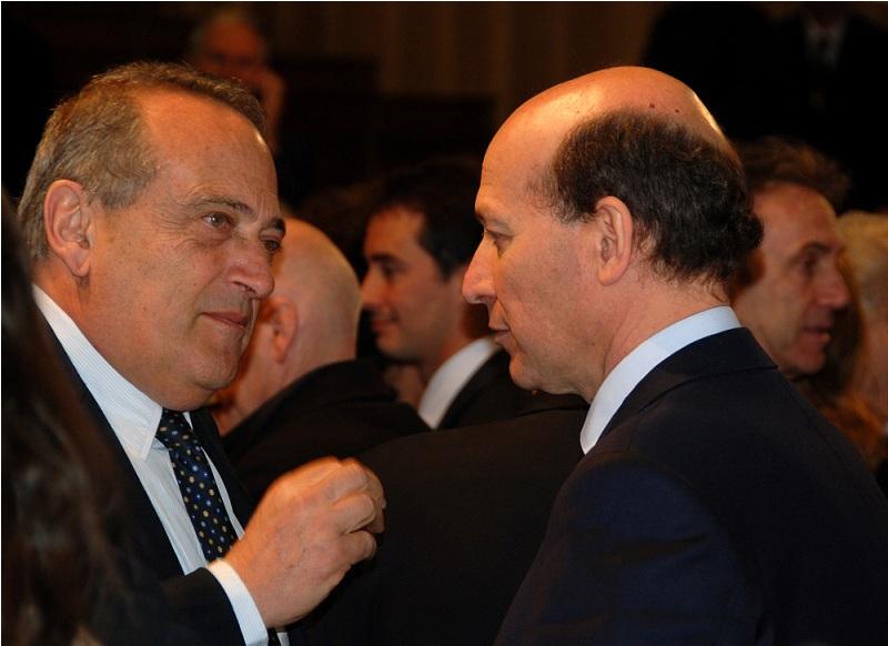 Il Presidente della BNL Abete e Ivanhoe Lo Bello