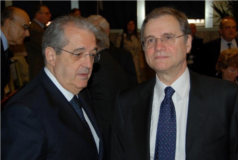 Da sinistra: Fabrizio Saccomanni e Ignazio Visco, DG e VDG Bankitalia