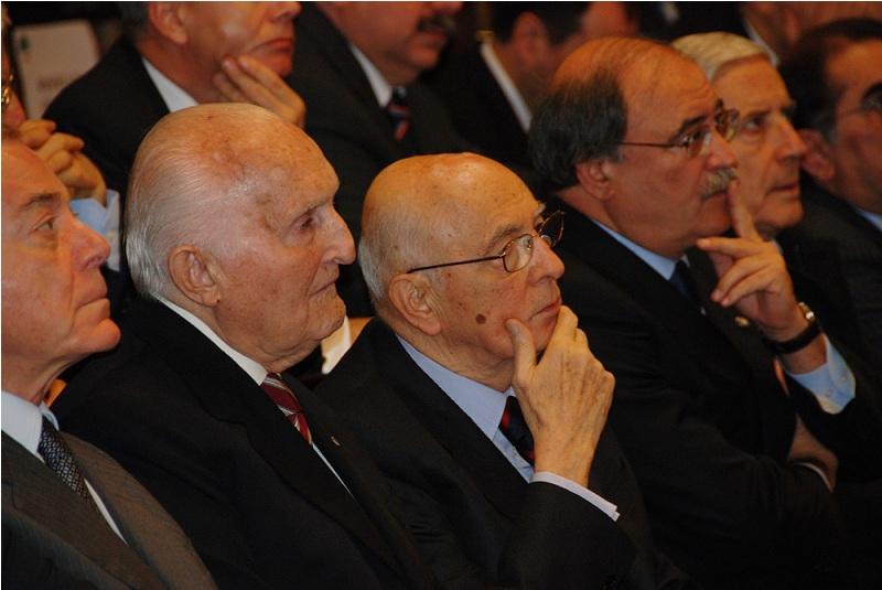 Scalfaro e Napolitano