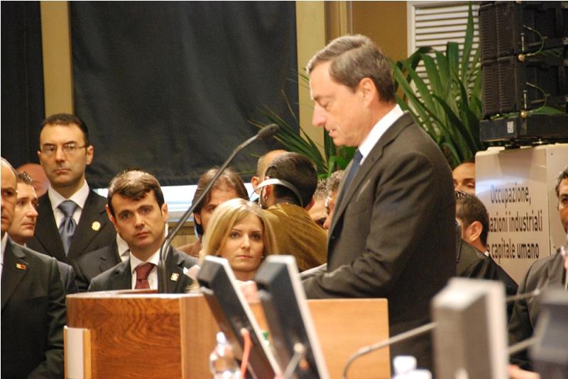 Il Governatore della Banca dItalia, Mario Draghi