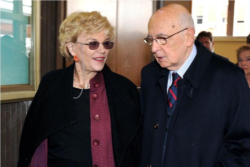Carole Tarantelli e Giorgio Napolitano