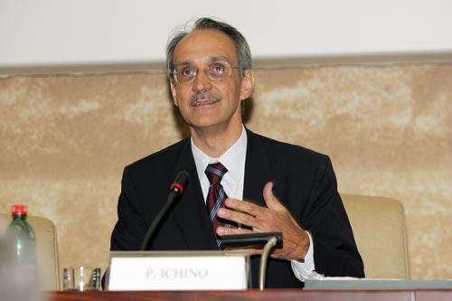L'intervento di ringraziamento di Pietro Ichino