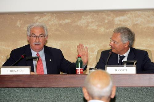 Da sinistra: Raffaele Bonanni e Bruno Costi