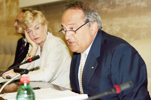 Da destra: Luigi Abete e Carol Tarantelli