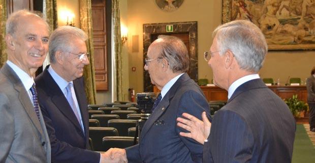 Carlo Santini, Mario Monti, Luigi Scimia