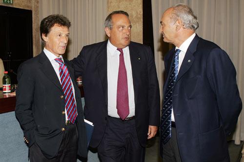 Antonio Marzano (a destra) e Luigi Abete (al centro)