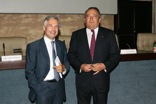 Luigi Abete (a destra) e Bruno Costi