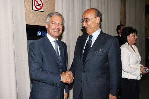 Il Presidente della Covip Luigi Scimia (a destra) e Bruno Costi