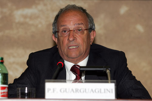 L'Amministratore delegato di Finmeccanica Pier Francesco Guarguaglini