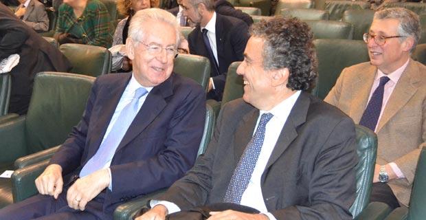 Mario Monti e Fabrizio Barca