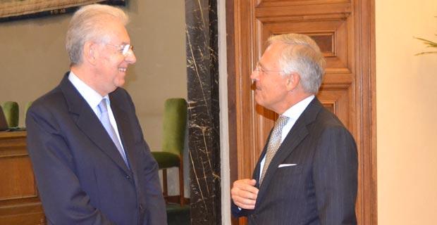 Mario Monti e Bruno Costi